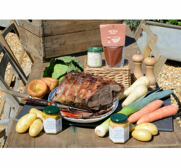 'Roast With The Most' Beef Topside Roast Dinner & Wine Box