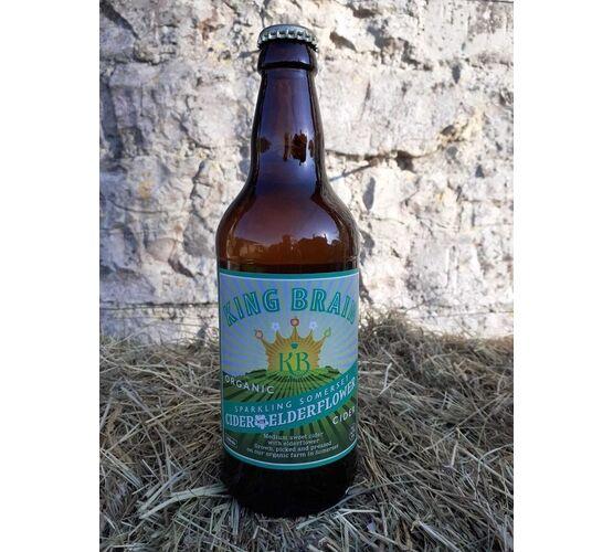 King Brain Organic Cider with Elderflower 4.5% ABV (500ml)